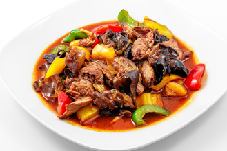 115. Beef with Green Pepper in Black Bean Sauce