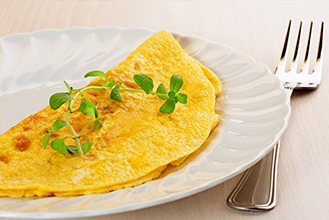 193. Plain Omelette with Chips